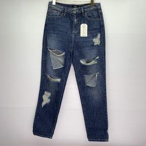 Cello Jeans Distress Destroyed Girlfriend Cotton